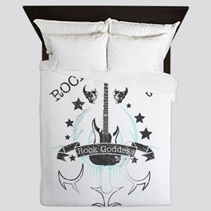 Rock Never Dies (black) Queen Duvet