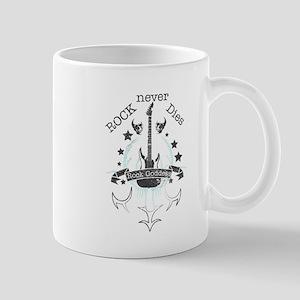 Rock Never Dies (black) Mugs