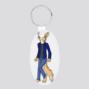 Designer by Anna Vixen Fedo Aluminum Oval Keychain