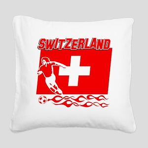 Soccer flag designs Square Canvas Pillow
