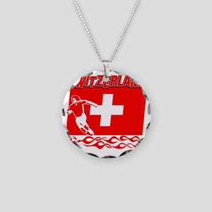 Soccer flag designs Necklace Circle Charm