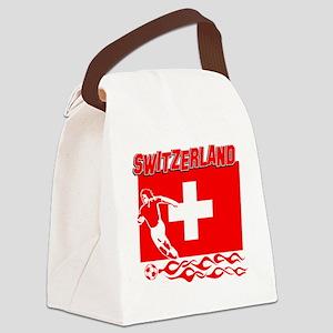 Soccer flag designs Canvas Lunch Bag