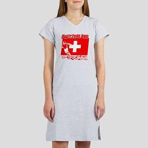 Soccer flag designs Women's Nightshirt