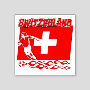 "Soccer flag designs Square Sticker 3"" x 3"""