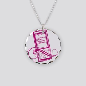 PLL_mobile Necklace Circle Charm