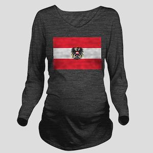 Austria Long Sleeve Maternity T-Shirt