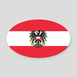 Austria Oval Car Magnet