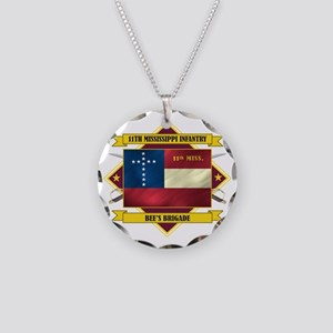 11th Mississippi Inf (Flag 5 Necklace Circle Charm