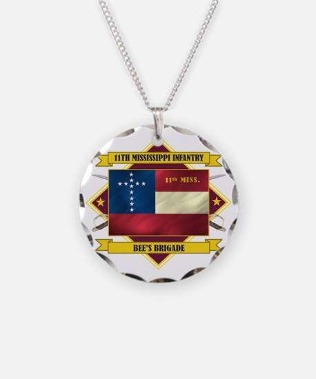 11th Mississippi Inf (Flag 5 Necklace