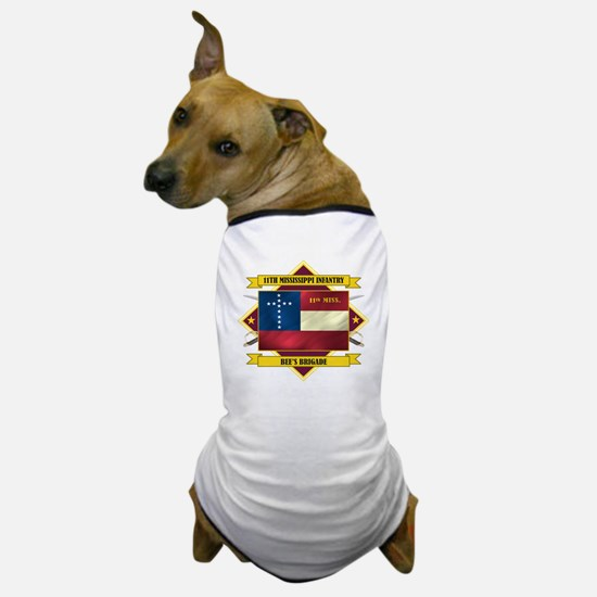 11th Mississippi Inf (Flag 5.1) Dog T-Shirt