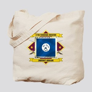 17th TN Infantry (Flag 5.1) Tote Bag
