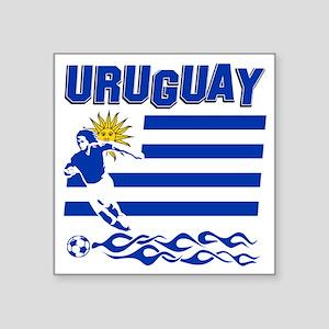 """uruguay1 Square Sticker 3"""" x 3"""""""