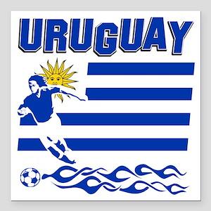 """uruguay1 Square Car Magnet 3"""" x 3"""""""