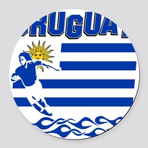 uruguay1 Round Car Magnet