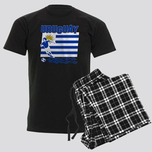 uruguay1 Men's Dark Pajamas