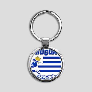uruguay1 Round Keychain