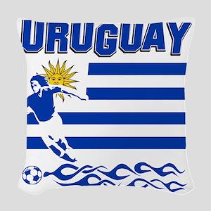 uruguay1 Woven Throw Pillow