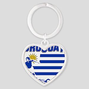 uruguay1 Heart Keychain