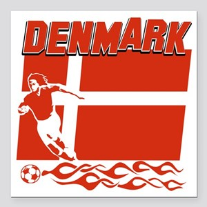 "soccer player designs Square Car Magnet 3"" x 3"""