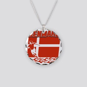soccer player designs Necklace Circle Charm
