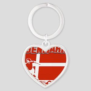 soccer player designs Heart Keychain
