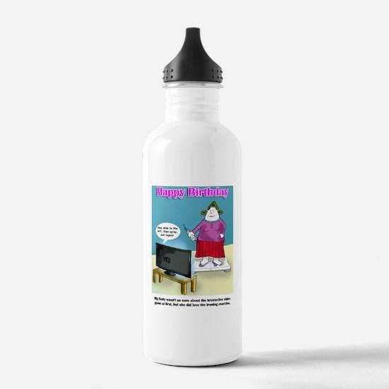 tv game Happy Birthday Water Bottle