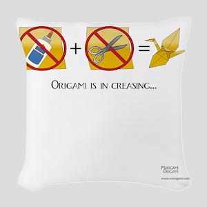 NoScissorsNoGlue Woven Throw Pillow