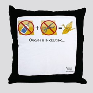 NoScissorsNoGlue Throw Pillow