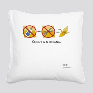 NoScissorsNoGlue Square Canvas Pillow