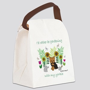 4-Yorkie Canvas Lunch Bag