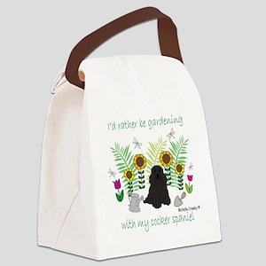 CockerSpanielBlk Canvas Lunch Bag