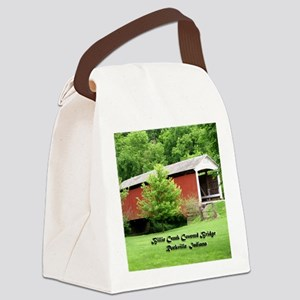 Billie Creek Covered Bridge Canvas Lunch Bag