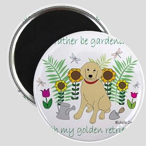 3-GoldenRetriever Magnet