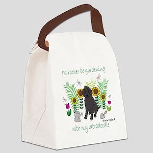 LabradoodleBlk Canvas Lunch Bag