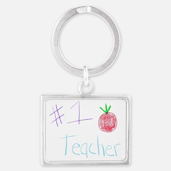 CKA-8-MP  #1 Teacher Landscape Keychain