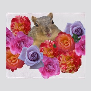 happyrosesquirrel Throw Blanket