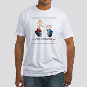 BEAM ME UP SCOTTY! by April McCallu Fitted T-Shirt