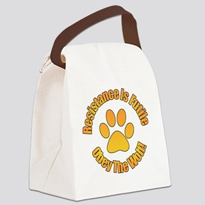 Obey The Wolf Canvas Lunch Bag