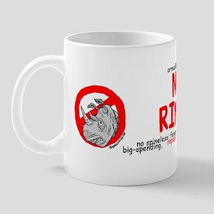 2-no rinos bumpersticker (2) Mug