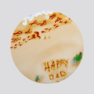 Fathers-Day_FINAL Round Ornament