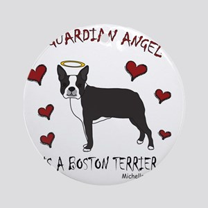 BostonTerrierBlk Round Ornament