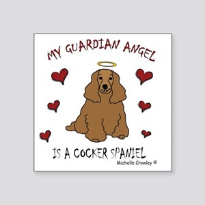"CockerSpanielTan Square Sticker 3"" x 3"""