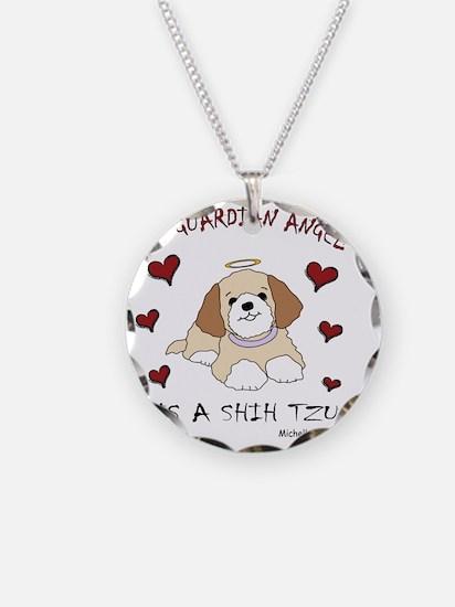2-ShihTzuTan Necklace Circle Charm