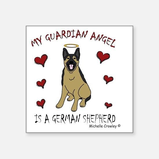 "2-GermanShepherd Square Sticker 3"" x 3"""