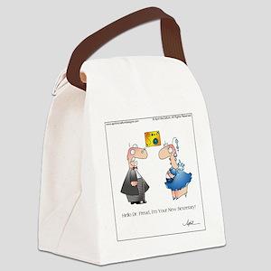 FREUDIAN SLIP by April McCallum Canvas Lunch Bag