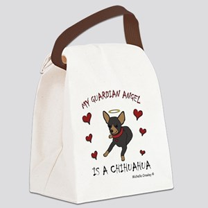 ChihuahuaBlkTan Canvas Lunch Bag