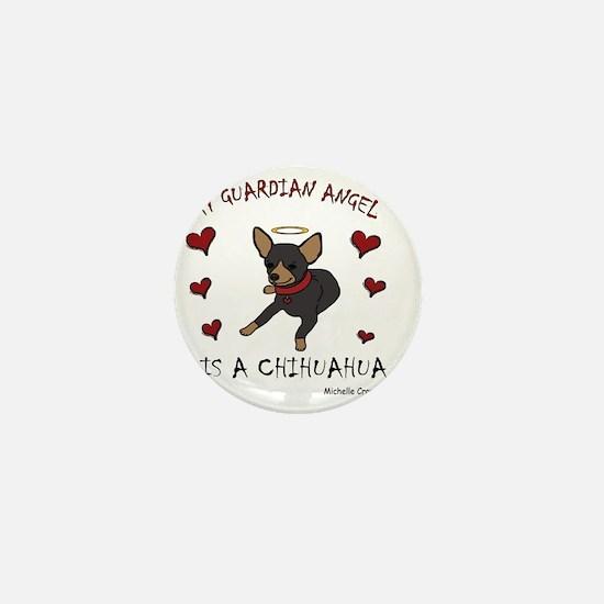 ChihuahuaBlkTan Mini Button