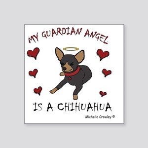 "ChihuahuaBlkTan Square Sticker 3"" x 3"""