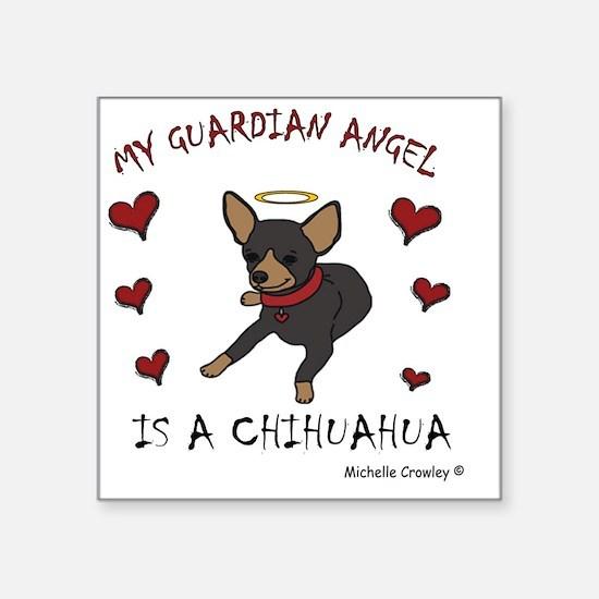"ChihuahuaBlkTan Square Sticker 3"" x 3"""