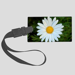 White Daisy Large Luggage Tag